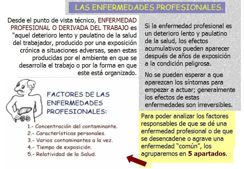 DEFINICION TECNICA DE ENFERMEDAD PROFESIONAL