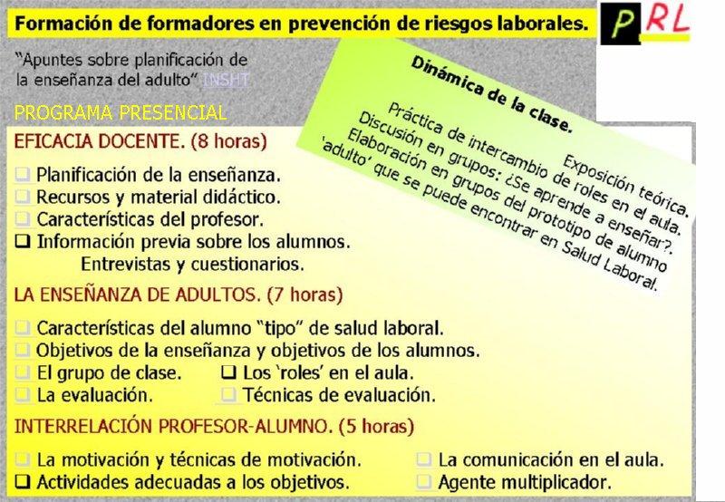 FORMADOR FORMADORES · TRANSPARENCIAS PRESENTACION